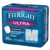 Medline FitRight Ultra Protective Underwear, Heavy Absorbency
