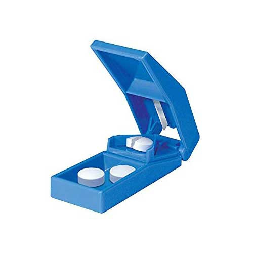 mckesson pill cutter hand operated blue  aac