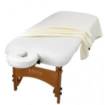 3-Piece Flannel Sheet Set for Massage Table