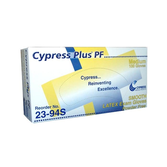 cypress plus latex exam gloves powder free nonsterile e11