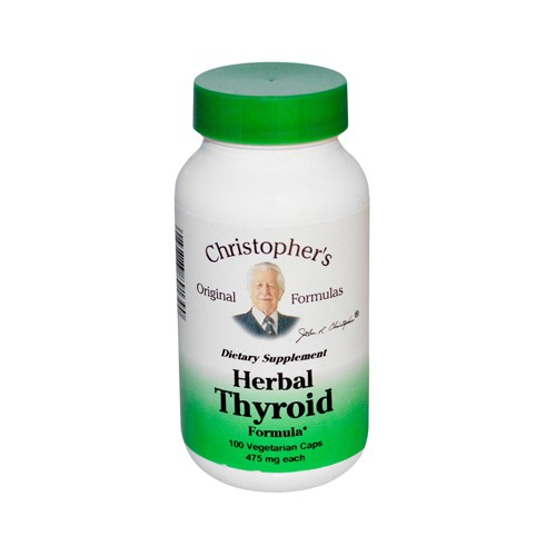 Christophers Herbal Thyroid 475 mg Dietary Supplement