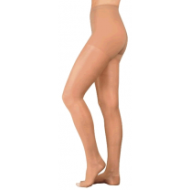 Juzo Naturally Sheer Compression Pantyhose OPEN TOE 20-30 mmHg