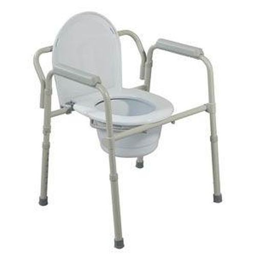 Folding Steel Commode by Drive Medical