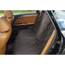 Deluxe Car Back Seat Cover Reversible Suede & Sherpa