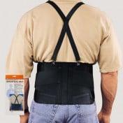 Industrial Back Support Belt with Shoulder Straps
