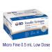 Micro Fine 0.5 mL Needles with Syringe