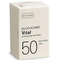 Glucocard Vital Blood Glucose Test Strips Box of 50 - 760050