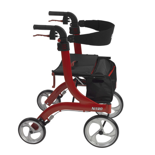 Drive Medical Nitro Euro Style Rollator Walker 10266 Series Red