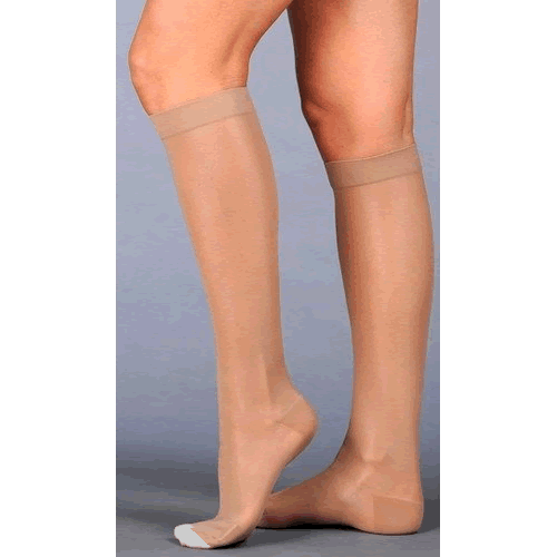Juzo Naturally Sheer Knee High Compression Socks OPEN TOE 30-40 mmHg