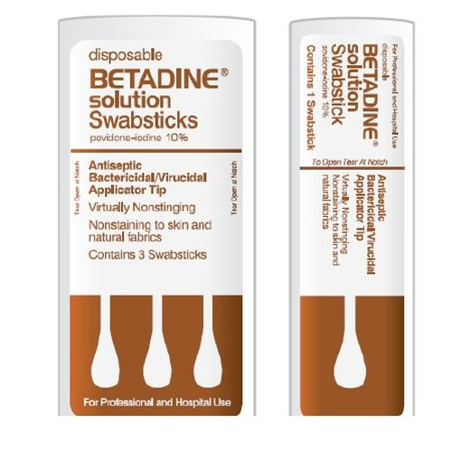 Disposable Betadine Solution Swabsticks