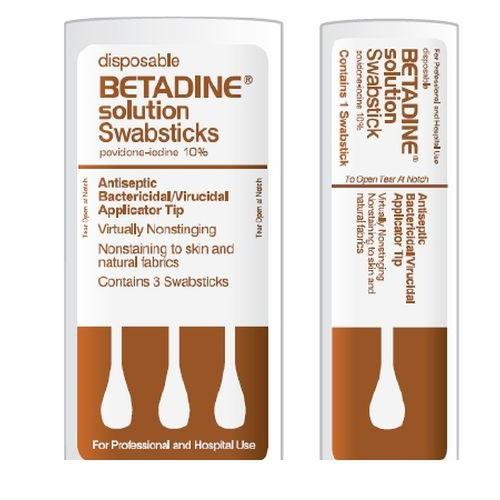 Disposable Betadine Solution Swabsticks