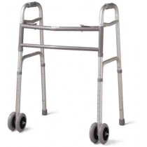 "Guardian Bariatric Folding Walker with 5"" Wheels"