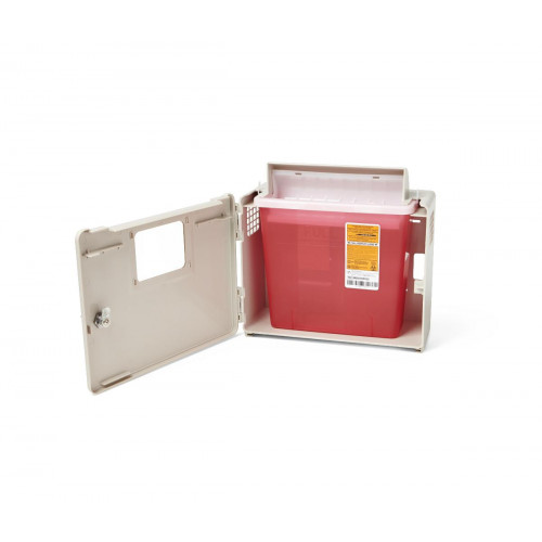 MedLine 3-Gallon Biohazard Patient Room Sharps Container