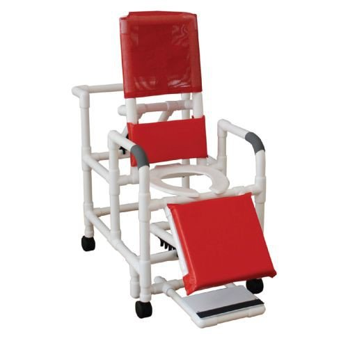 MJM PVC Reclining Shower Chair with Sliding Footrest