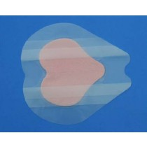 PolyMem Shapes 1709 | Silver Sacral Dressing - 7.2 x 7.8 Inch Sacral Adhesive, 4-1/2 x 4.7 Inch Pad by Ferris