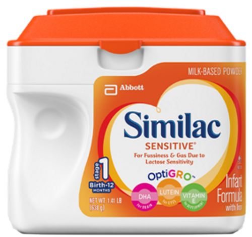 similac sensitive infant formula w iron 778