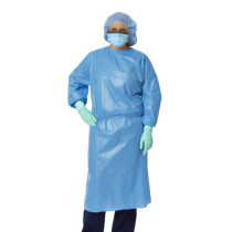 Closed Back Coated Propylene Isolation Gowns