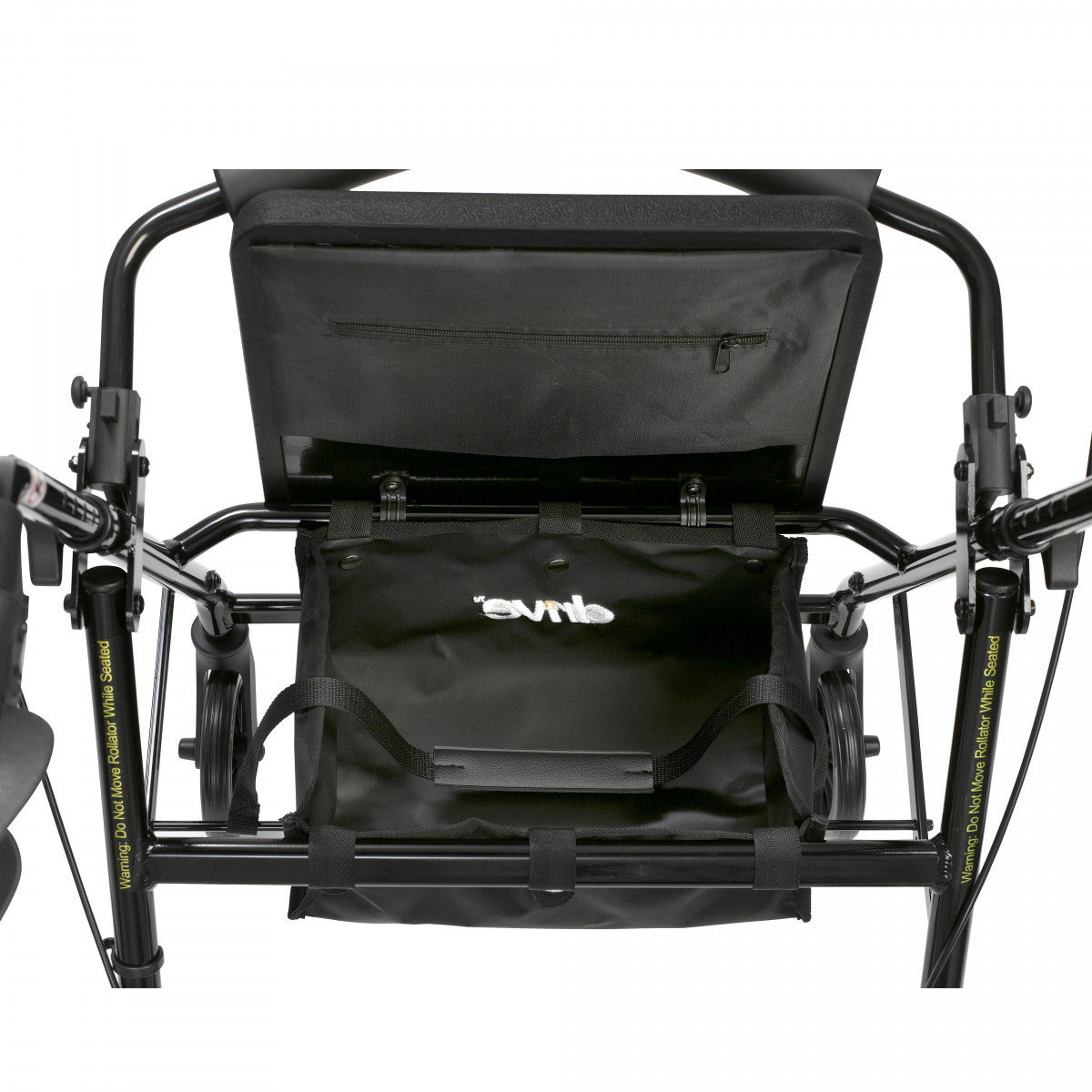 lightweight rollator with fold up and removable back support by drive fdf