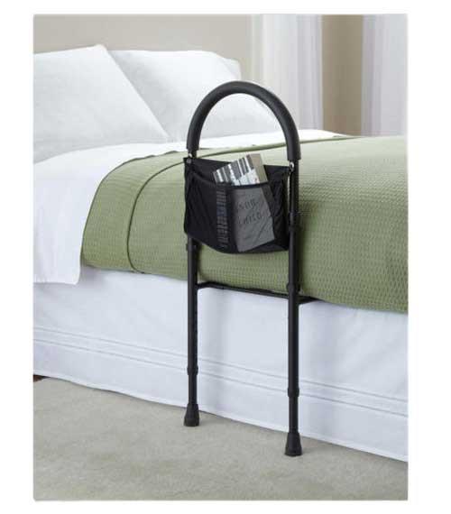medline bed assist bar with storage pocket f82
