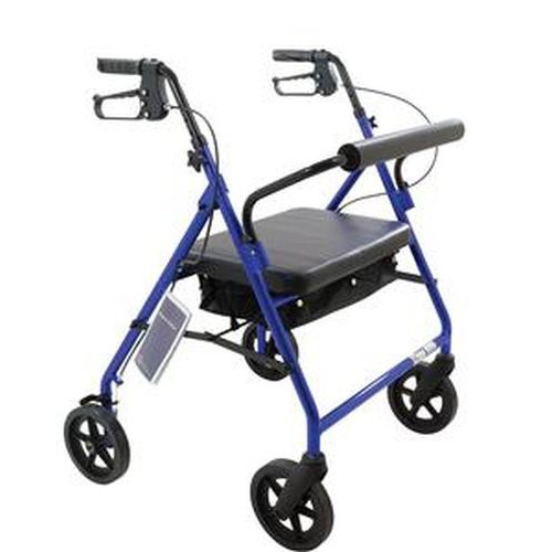 Bariatric Rollator with Padded Seat by Roscoe