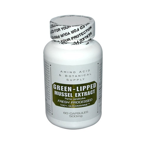 Amino Acid and Botanical Supply Green Lipped Mussel Extract Dietary Supplement 500 mg