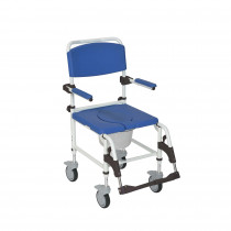 Drive Aluminum Mobile Shower Chair Commode