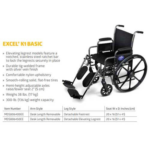 medline strong and sturdy wheelchair c4f