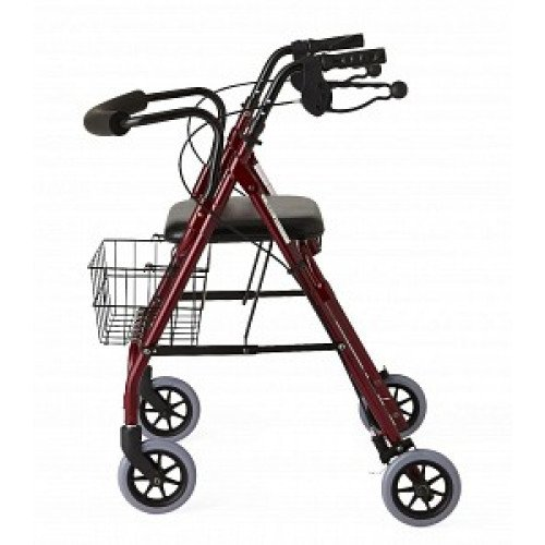 "Deluxe Rollator w/ 6"" Wheels - Medline"