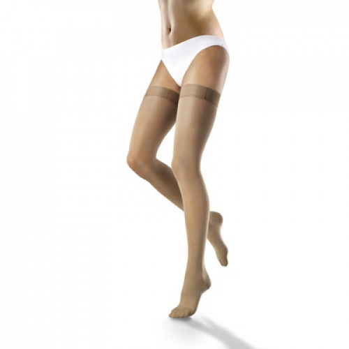 VENOSOFT Thigh High Compression Stockings Open Toe 30-40 mmHg /w Waist Attachment