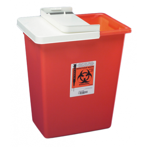 8 Gallon Red SharpSafety Sharps Container with Gasketed Hinged Lid 8997