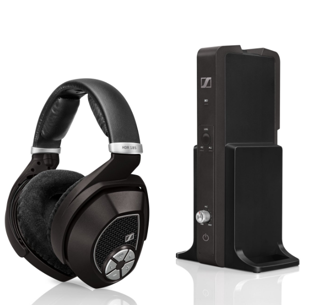 sennheiser rs 185 wireless headphone system with manual volume control 982