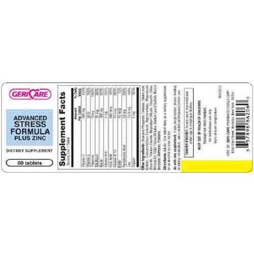 Stress Formula Plus Zinc Dietary Supplement