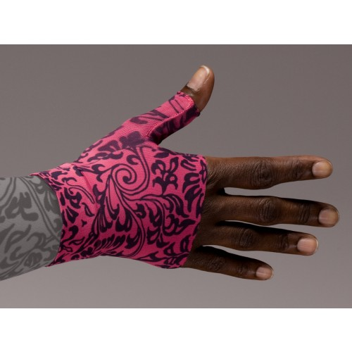 LympheDivas Damask Fuchsia Compression Gauntlet 20-30 mmHg