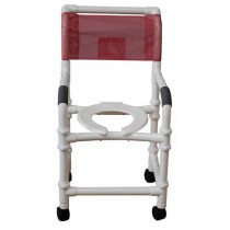 MJM PVC Knockdown Shower Chair