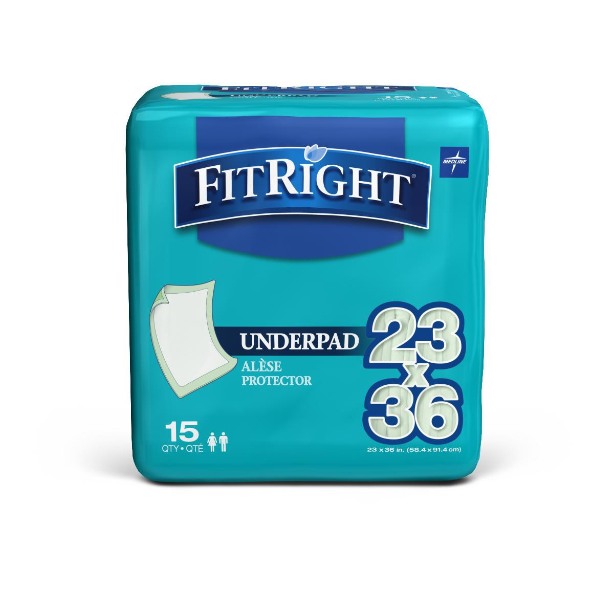 medline fitright underpads be1