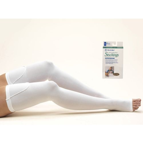 Anti-embolism Thigh High Open Toe Stockings
