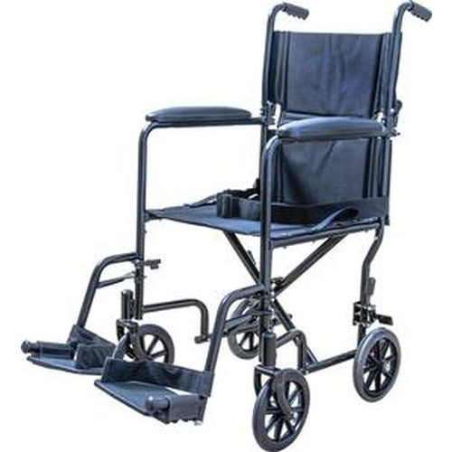 """ProBasics 19 """" Transport Chair with Steel Frame and Swing Away Footrests"""