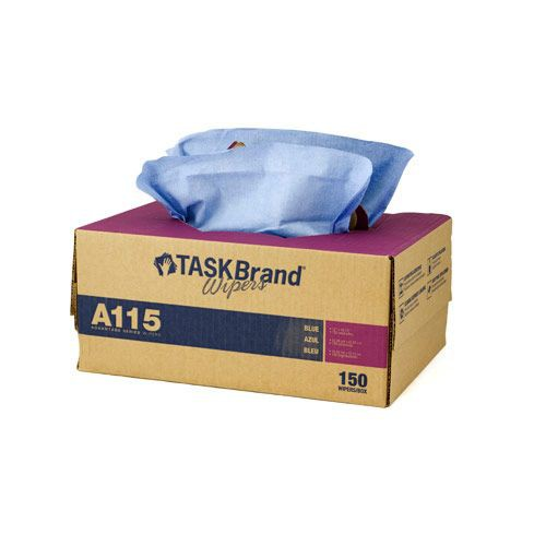 Taskbrand A115 Sontara Blue Creped Interfold Twintote Wipers