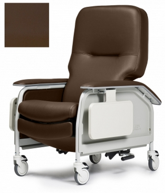 lumex deluxe clinical care geri chair recliner with tray 1cf