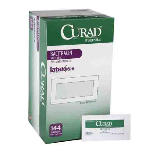 CURAD Bacitracin with Zinc Ointment Foil Packs
