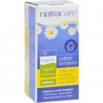 Natracare 100 Percent Organic Cotton Tampons