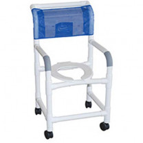 MJM PVC Shower Chair with Deluxe Elongated Open Seat