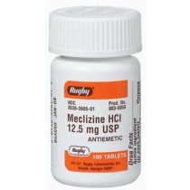 Meclizine HCL Anti-Nausea Tablets