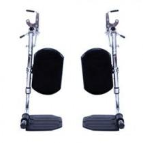 Invacare Wheelchair SwingAway Elevating Legrest with ALUMINUM Footplates