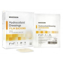 Mckesson Hydrocolloid 2 x 2 Inch Dressing with Film Backing - 1886 | Sterile