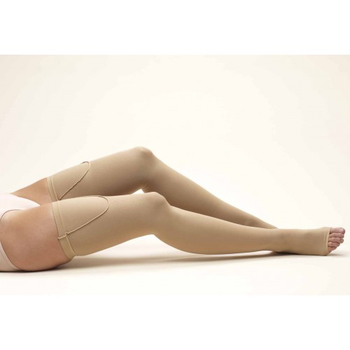 TRUFORM Anti-Embolism Thigh High Support Stockings OPEN TOE 18 mmHg