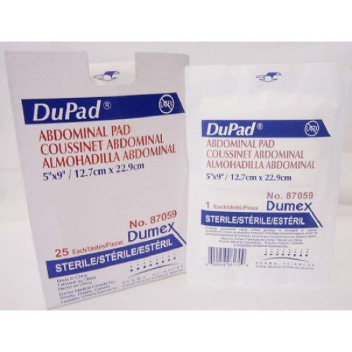 DuPad Abdominal Pads Hydrophobic Moisture Barrier - Sterile