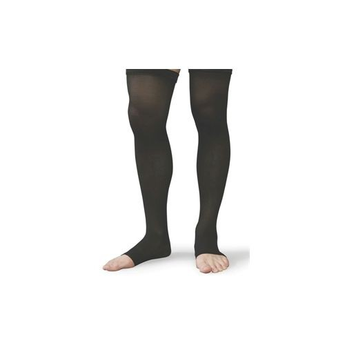 Shape To Fit Unisex Microfiber Medical Thigh-High Open-Toe Stockings 20-30 mmHg