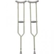Aluminum Push Button Adjustable Height Crutches