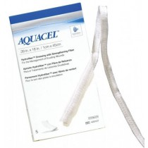 Aquacel Hydrofiber Wound Dressing Ribbon with Strengthening Fiber, .39 x 18 Inch